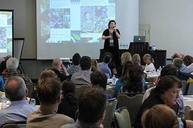 Jen Hickle speaking about Social Media marketing