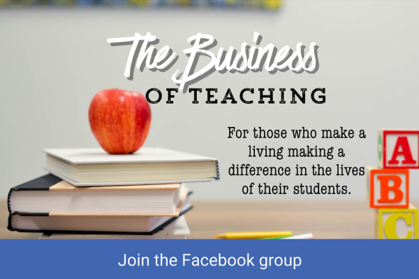 If you make a living with teaching, come join our Facebook group!